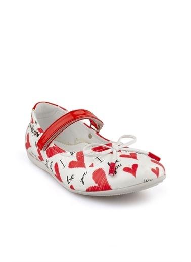Cici Bebe Ayakkabı Deri Kız Çocuk Babet Beyaz